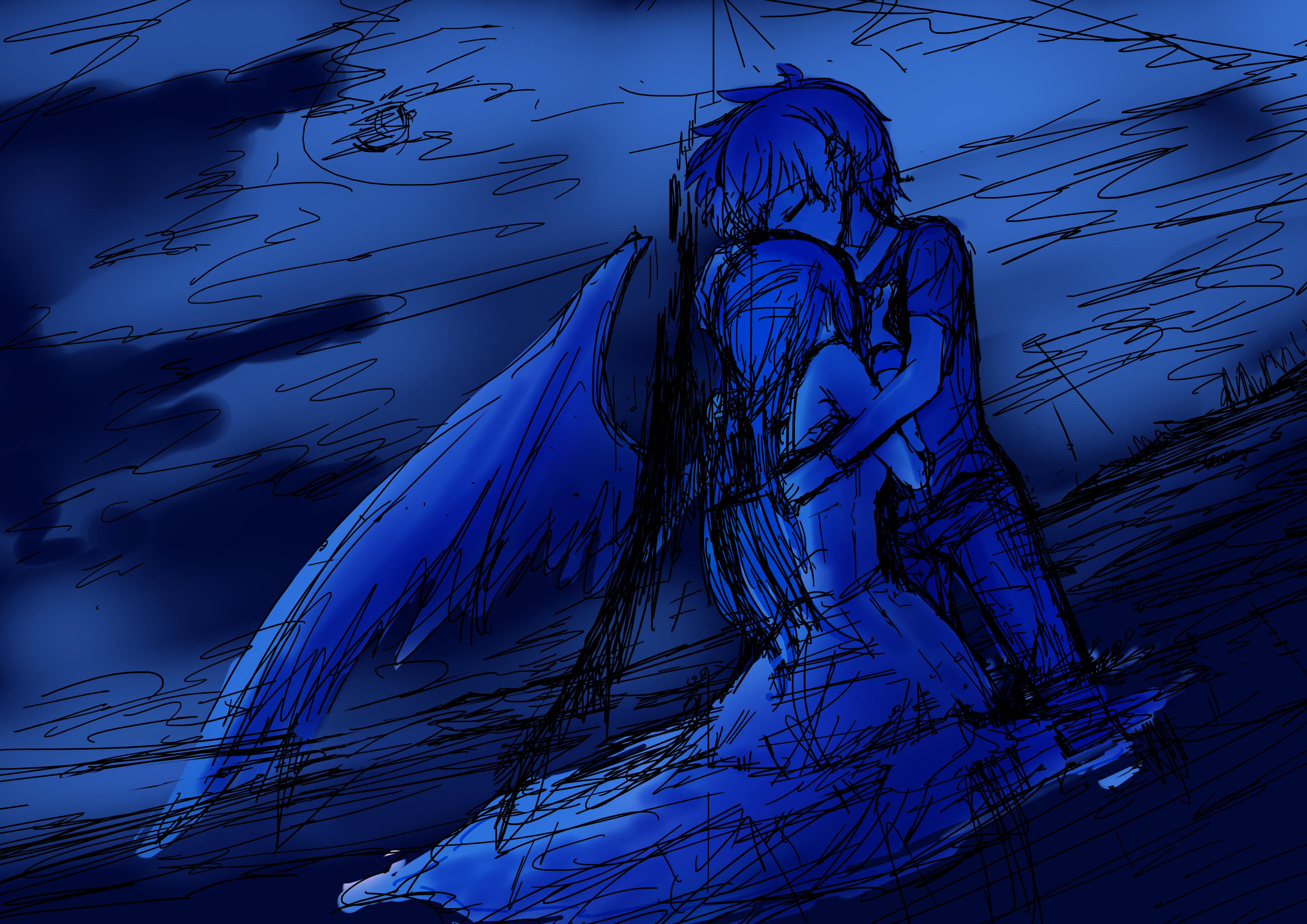 夜の海 ラフ